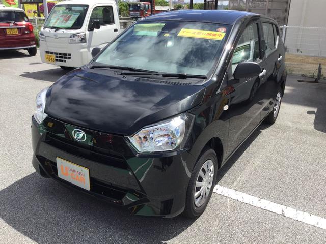 沖縄の中古車 ダイハツ ミライース 車両価格 89万円 リ済別 2021(令和3)年 3km ブラックマイカM
