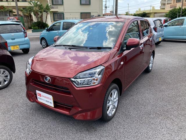 沖縄の中古車 ダイハツ ミライース 車両価格 114万円 リ済別 2021(令和3)年 4km ファイアークォーツレッドM