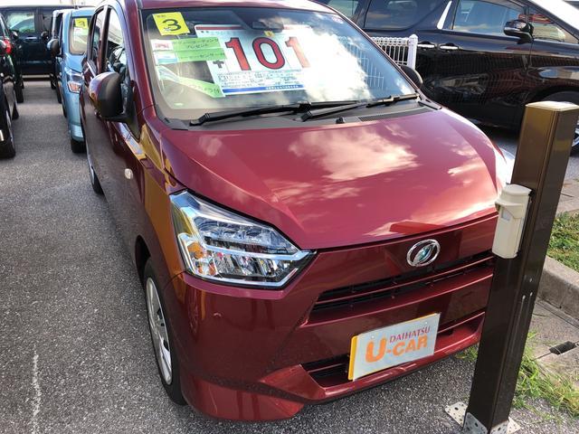 沖縄の中古車 ダイハツ ミライース 車両価格 101万円 リ済別 2021(令和3)年 5km ファイアークォーツレッドM