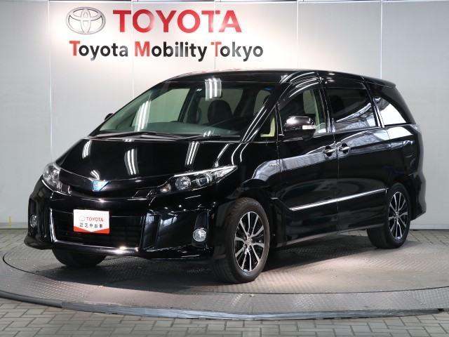 トヨタ アエラス レザーパッケージ 4WD 本革電動シート 両側パワースライドドア パワーバックドア HDDナビ