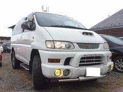 デリカスペースギアシャモニー ワンオーナー 本革シート 4WD キーレス