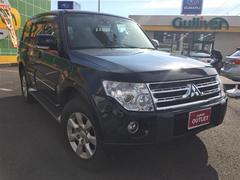 パジェロロング エクシード 4WD 革シート ETC メモリーナビ