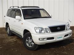 ランドクルーザー100シグナス 4WD サンルーフ 革シート キーレス DVDナビ