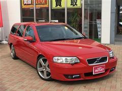 ボルボ V70R サンルーフ 本革シート 4WD ETC キーレス CD