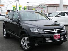 VW トゥアレグV6 Bモーションテクノロジー 純正ナビ スタッドレスあり
