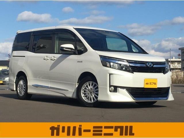 トヨタ X 純正ナビ・後席モニター・片側電動スライド・フルセグTV