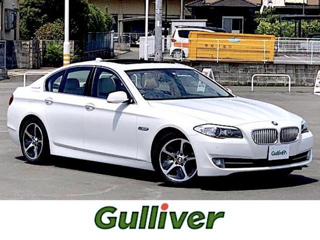 BMW アクティブハイブリッド5革シート サンルーフ 純正HDDナビ