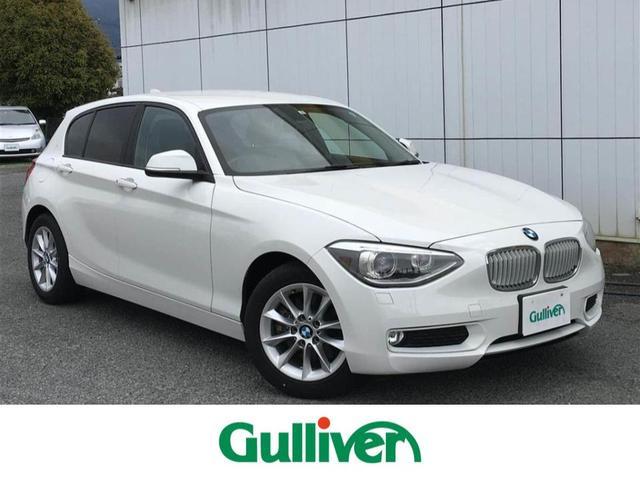 BMW 1シリーズ スタイル 白ハーフレザー 純正HDDナビ ETC