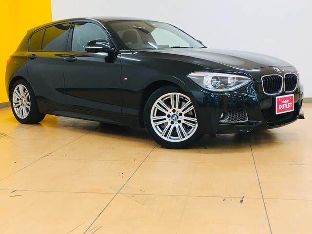 BMW 116i Mスポーツ 純正OPナビCD/DVD/HDD/USB/AUXバックカメラETC横滑り防止装置コーナーセンサー電動格納ウインカーミラー HIDヘッドライトフォグライト 社外フロアマット
