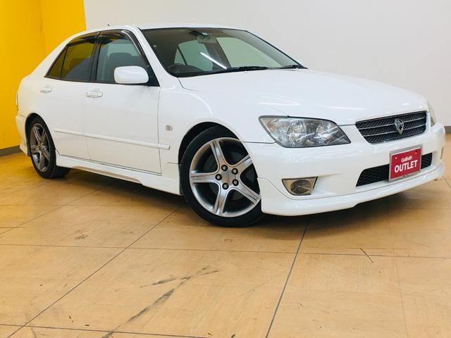 トヨタ RS200 リミテッドII 6速MT/社外オーディオ/CD/MD/ETC/革巻ステアリング/電動格納ミラー/ABS/Wエアバック/キセノンライト/キーレス/純正17AW/エアロ/マット/バイザー