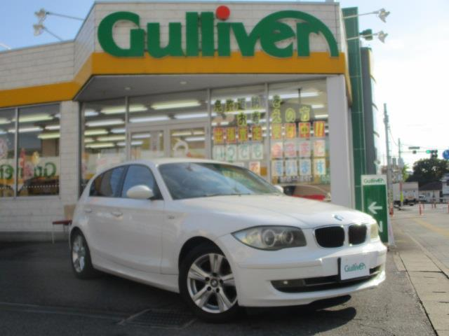 BMW 120i ストラーダHDDナビ フルセグ DVD再生 バックカメラ HIDヘッドライト フォグライト 純正16インチアルミ パワーシート
