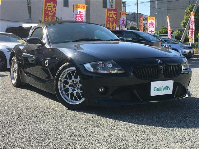 BMW Z4 2.2iロマンティック 社外BBSアルミ17インチ 社外HDDナビ フルセグテレビ バックカメラ ETC HID carrozzeria ツィーター 本革 赤シート 純正オーディオ積み込みあり