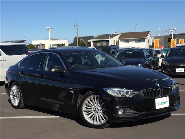 BMW 4シリーズ 420iグランクーペ ラグジュアリー 純正メーカーOPナビ ブラックレザーシート インテリジェントセーフティ レーダークルーズコントロール レーンキープアシスト LIMスイッチ アイドリングストップ HIDヘッドライト 前席シートヒーター