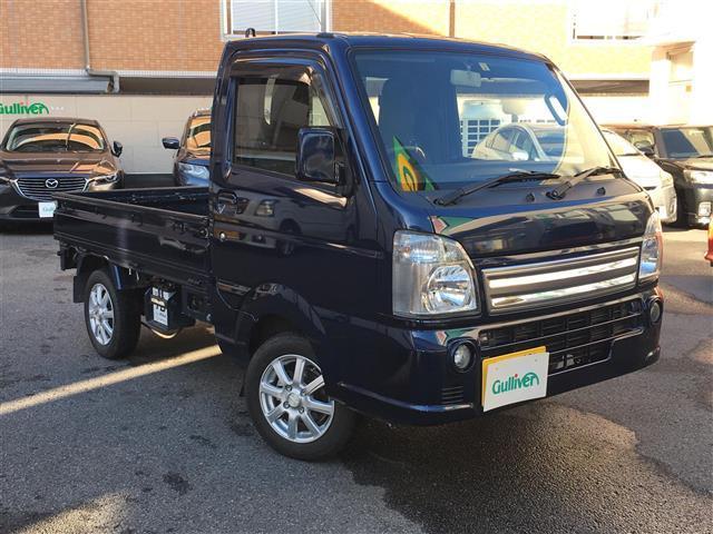 スズキ キャリイトラック KX ワンオーナー ETC 4WD 純正フロアマット 社外アルミホイール リモコンキー フォグランプ スペアタイヤ積込