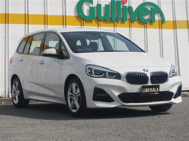 BMW 218d xDriveグランツアラー Mスポーツ 衝突軽減ブレーキ ナビ Bluetooth バックカメラ レーンアシスト アイドリングスットプ LEDヘッドライト オートライト スマートキー 3列シート