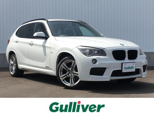 BMW X1 sDrive 18i Mスポーツ 純正HDDナビ/BT バックカメラ 前後コーナーセンサー ウィンカーミラー 革巻きステアリング ステアリングスイッチ フォグランプ ルーフレール ジェットバック積込 ミラー型ETC