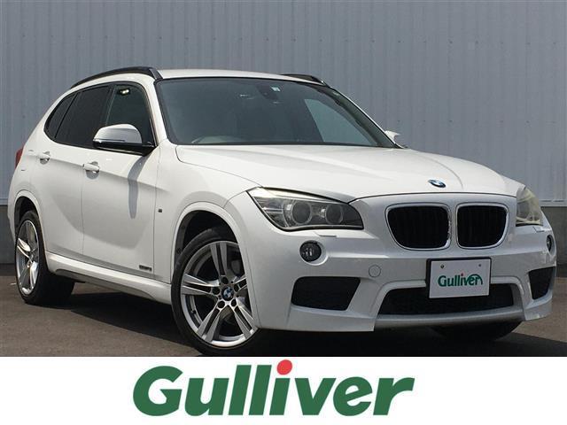 BMW X1 sDrive 18i Mスポーツパッケージ 正規輸入車/純正HDDナビ/CD/DVD/BT/USB/AUX 接続端子◇ミラー一体型ETC/HID/オートライト/フォグランプ/純正Mスポーツ専用18インチAW/電格ウインカーミラー/ルーフレール