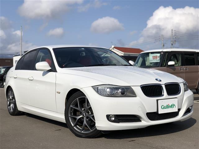 BMW 3シリーズ BBS17インチAW 純正HDDナビ バックカメラ 前席パワーシート HIDヘッドライト フロントリアフォグランプ 横滑り防止 純正16インチAW冬タイヤ積込