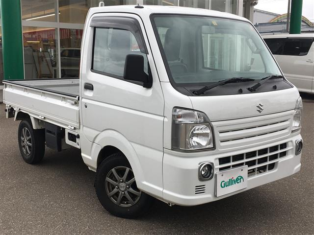 スズキ キャリイトラック KCエアコン・パワステ 4WD 5MT CD フォグランプ スタッドレス付き