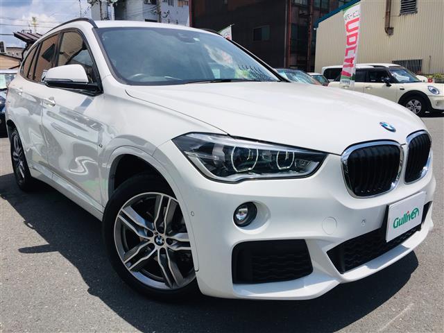 BMW X1 xDrive 18d Mスポーツ インテリジェントセーフティ レーダークルーズコントロール 純正メーカーナビ バックカメラ パワーバックドア ルーフレール レザーシート パワーシート 純正AW コーナーセンサー Dモードスイッチ