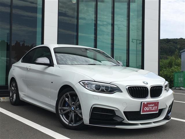 BMW 2シリーズ M235iクーペ 衝突軽減ブレーキ車線逸脱防止機能純正ナビバックカメラコーナーセンサーパドルシフトクルーズコントロールETC純正18インチアルミホイールスペアキー保証書取扱説明書