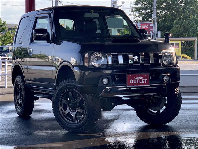 スズキ ランドベンチャー 4WD/5速マニュアル/ターボ/寒冷地/RAYSアルミ付きマッドタイヤ/3インチリフトアップ/社外7インチワイドSDナビ/CD/DVD/SD/フルセグTV/社外ツイーター/ETC/スタッドレスタイヤ