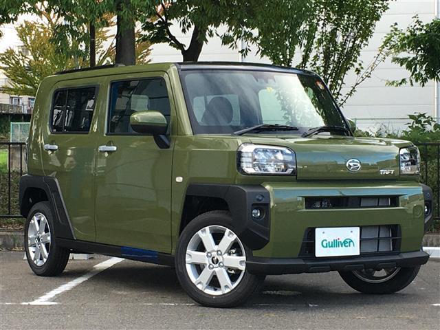 ダイハツ タフト G スマートアシスト/4WD/スカイフィールトップ/D/N席シートヒーター/コーナーセンサー/LEDヘッドライト/LEDフォグランプ/革巻きステアリング/ステアリングスイッチ/バックカメラ