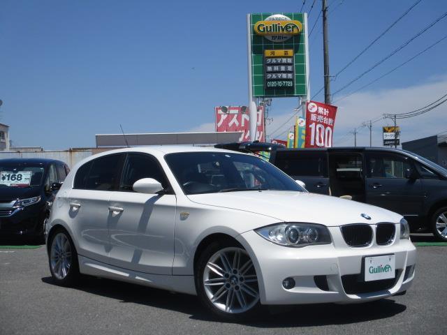 BMW 1シリーズ 116i Mスポーツパッケージ 禁煙 ハーフレザーシート HIDヘッドライト プッシュスタート スモークフィルム ナビ ETC