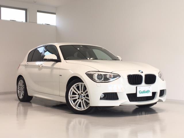 BMW 1シリーズ 116i Mスポーツ 純正ナビ/FM/AM/CD/DVD/BT/革ステアリング/ステアリングスイッチ/ドライブレコーダー/ETC/純正フロアマット/ランゲージマット/純正アルミホイール/リアコーナーセンサー/横滑り防止装置