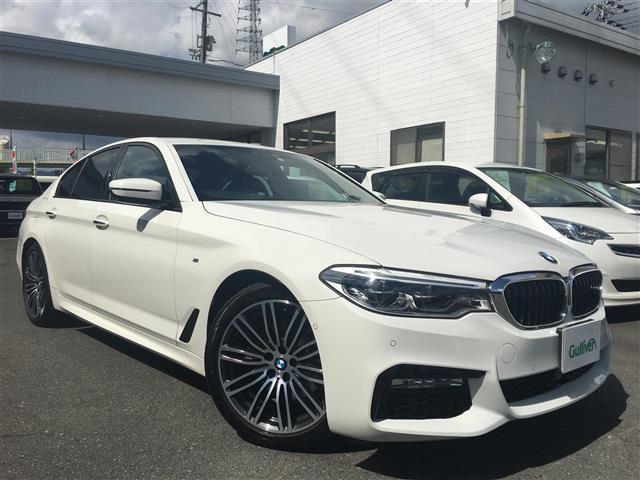 BMW 523d Mスポーツ ハイラインパッケージ 純正HDDナビ フルセグTV 全周囲カメラ ETC LEDヘッドライト フォグライト オートライト 黒レザーシート 前席パワーシート 全席シートヒーター クルコン  純19AW