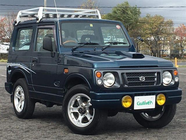 スズキ ランドベンチャー 4WD/社外16inアルミホイール/社外ステアリング(ナルディ)/社外オーディオ(CDF-R8)CD/FM/AM/純正ドアバイザー/スペアキー/純正フロアマット/新車保証書