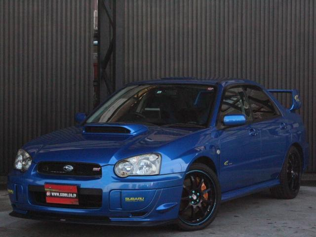 スバル WRX STi 2003 Vリミテッド 555限定車 STIリップ STIマフラー STI足廻り 18アルミ キセノン 純正ブレンボ DCCD 専用シフトノブ Rスポイラー ルーフベンチレーター