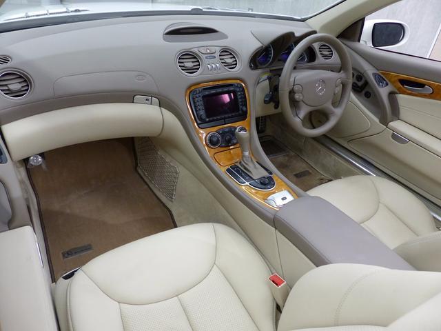 メルセデス・ベンツ M・ベンツ SL350中期型 7速AT 禁煙1オナ ベージュ革 PTS