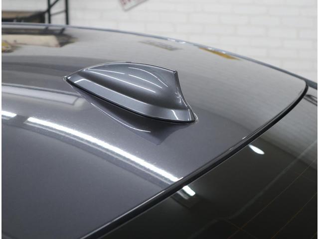純正ナビゲーション装着車を主張するルーフアンテナ。