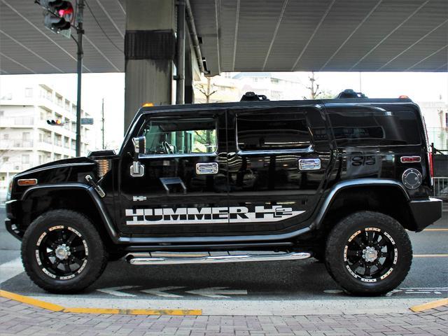 ハマー ハマー H2 ラグジュアリー 新車並行 20AW 社外2本出マフラー 黒革