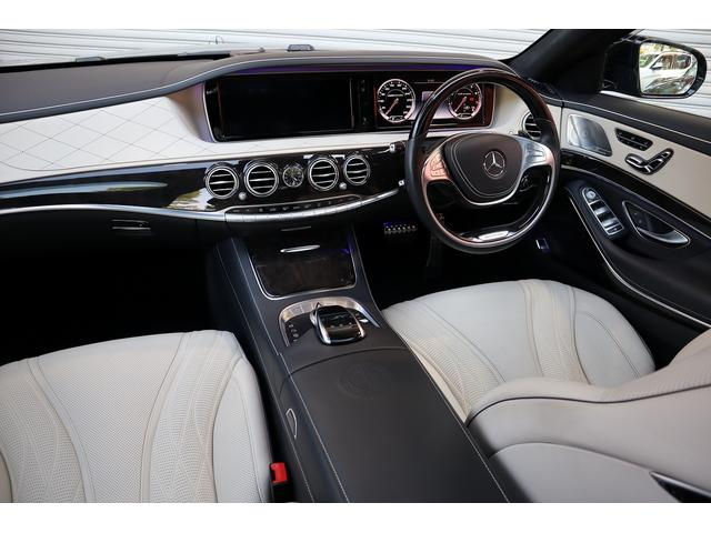 S63 AMGロング AMGダイナミックPKG 右H正規D車 パノラマSR ポーセレン革 全席シートヒーター&ベンチレーター Burmester 全周カメラ&ナイトビュー HUD RSP 赤キャリパー&専用20インチAW 社外トランクスポイラー(9枚目)
