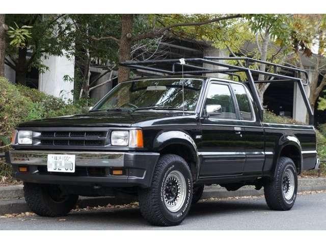 マツダ プロシード キャブプラス 4WD ワンオフキャリア付き