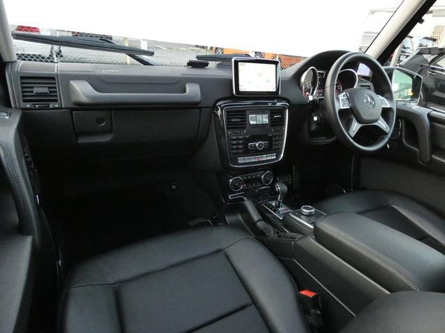 G350d サンルーフ ブラックレザー ブラインドスポットアシスト ディストロニックプラス モリー付パワーシート 全席シートヒーター バイキセノンヘッドライト純正HDDナビ 地デジ Bカメラ 18AW 禁煙(9枚目)