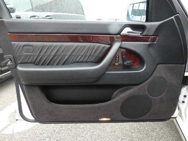 S320 最終型 5AT ブラックレザーシート 社外18AW 右ハンドル ETC クルーズコントロール 電動格納ミラー ウッドパネル 電動チルト本革巻ステアリング下取車 正規ディーラー車(45枚目)