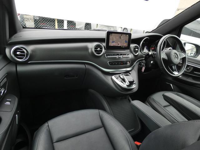 V220d スポーツ ロング パノラマ 黒革 レーダーセーフティPKG HDDナビ 地デジ 360°カメラ 19AW 社外リップスポイラー 禁煙  シートヒーター LEDヘッドライト 1オーナー 正規D車(8枚目)