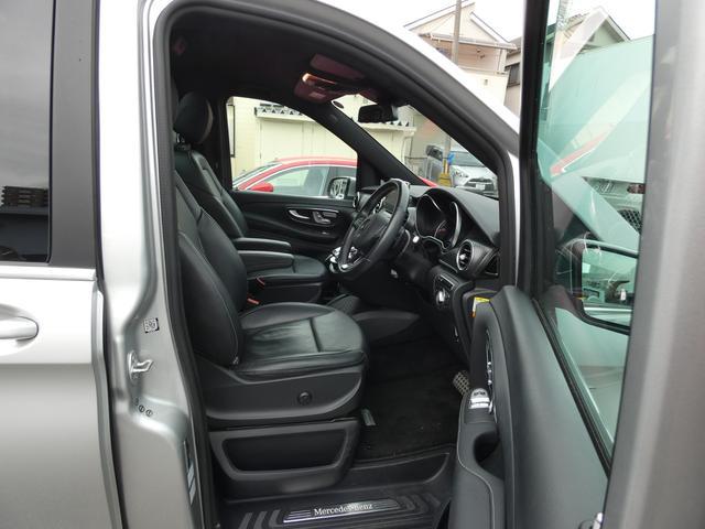 V220d スポーツ ロング パノラマ 黒革 レーダーセーフティPKG HDDナビ 地デジ 360°カメラ 19AW 社外リップスポイラー 禁煙  シートヒーター LEDヘッドライト 1オーナー 正規D車(13枚目)