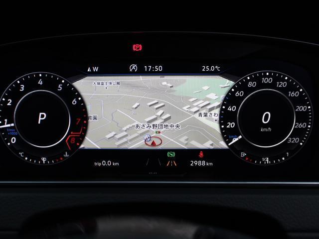 液晶式メーター「アクティブ・インフォ・ディスプレイ」は、ナビゲーション画面も表示でき、安全ドライブに効果的です。