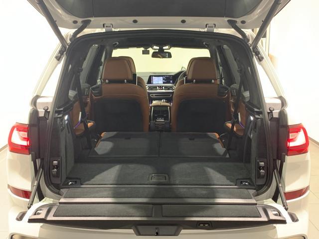 M50i サンルーフ 弊社デモカー 禁煙車 6人乗 リアシートディスプレイ ブラウンレザーシート フルセグTV 21インチAW エアサスペンション ハーマンカードンスピーカー ステアリングヒーター(62枚目)