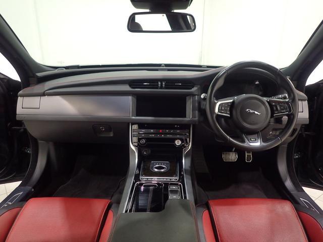 ジャガー ジャガー XF R-スポーツACC1オナLKA340psBSM AED黒赤革