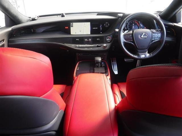 LS500 Fスポーツ 寒冷地仕様 ムーンルーフ デジタルインナーミラー ドライブレコーダー カーボンリヤスポイラー TRDフルスポイラー リモートスタートプレミアム ブレーキキャリパー赤塗装済み(6枚目)