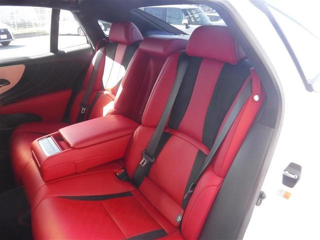 LS500 Fスポーツ 寒冷地仕様 ムーンルーフ デジタルインナーミラー ドライブレコーダー カーボンリヤスポイラー TRDフルスポイラー リモートスタートプレミアム ブレーキキャリパー赤塗装済み(8枚目)