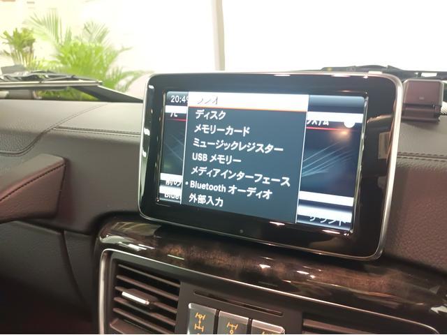 G350 ブルーテック ラグジュアリーパッケージ G63仕様バンパー ワイドフェンダー パナメリカーナタイプグリル 6×6スタイルフロントルーフスポイラー LEXANI24AW ラゲッジボード HDDナビTV ブラックレザー(14枚目)
