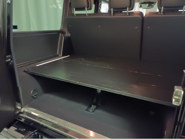 G350 ブルーテック ラグジュアリーパッケージ G63仕様バンパー ワイドフェンダー パナメリカーナタイプグリル 6×6スタイルフロントルーフスポイラー LEXANI24AW ラゲッジボード HDDナビTV ブラックレザー(51枚目)