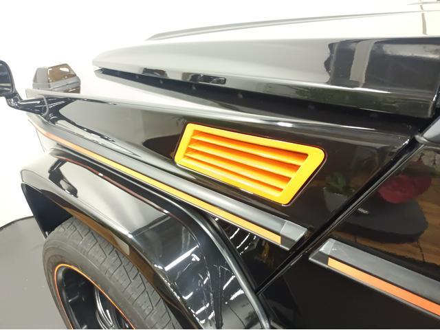 G350 ブルーテック ラグジュアリーパッケージ G63仕様バンパー ワイドフェンダー パナメリカーナタイプグリル 6×6スタイルフロントルーフスポイラー LEXANI24AW ラゲッジボード HDDナビTV ブラックレザー(79枚目)