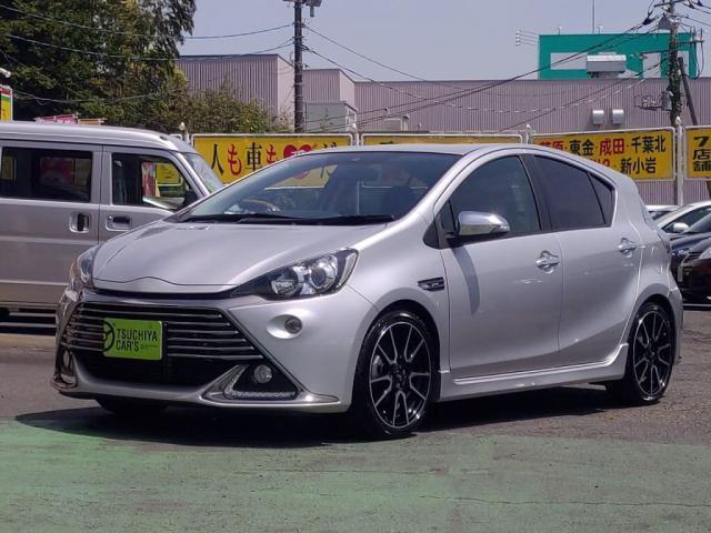 トヨタ アクア G G's 禁煙車12セグMナビBカメラLEDライトETCキーフリー
